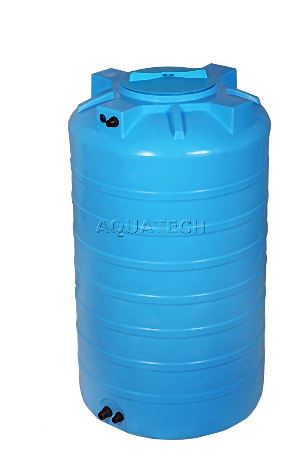 пластиковый бак для воды aquatech atv-500 синий с поплавком